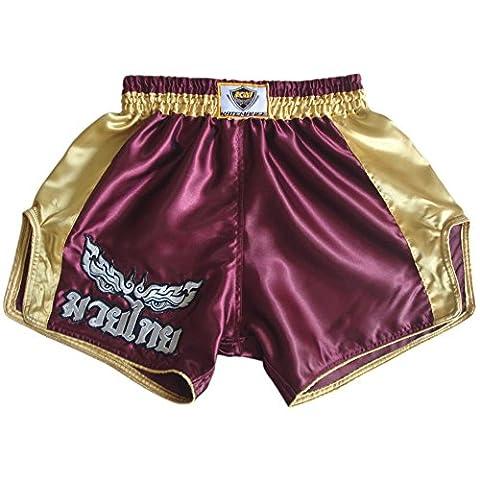 Katemanee Muay Thai Hose Kickboxen MMA Gym Shorts Damen Herren Medium (Waist 28