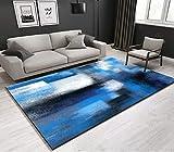 200x300cm, Personalizza tappeto | Tappeto della camera da letto soggiorno pittura a olio astratta blu nordico, regalo di Natale, Halloween, Capodanno