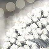 Garden Kraft 15430Benross 50LED Solar Lichterkette-weiß