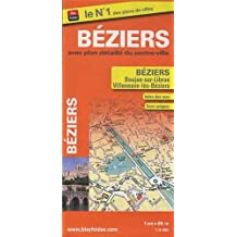 Plan de Béziers avec les communes de Boujan-sur-Libron et de Villeneuve-lès-Béziers