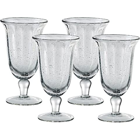 Artland Savannah Clear Bubble Glass Goblet, Set of 4 by