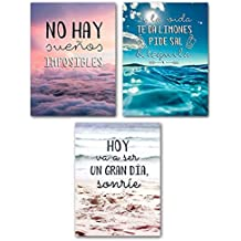 Set 3 Lienzo originales de frases decorativas 30x40 3m