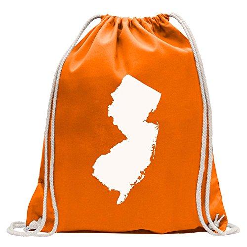 Kiwistar USA - Bundesstaat - New Jersey Turnbeutel Fun Rucksack Sport Beutel Gymsack Baumwolle mit Ziehgurt -