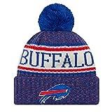 New Era NFL Sideline Bobble Knit 2018/2019 Season Beanie (Buffalo Bills)