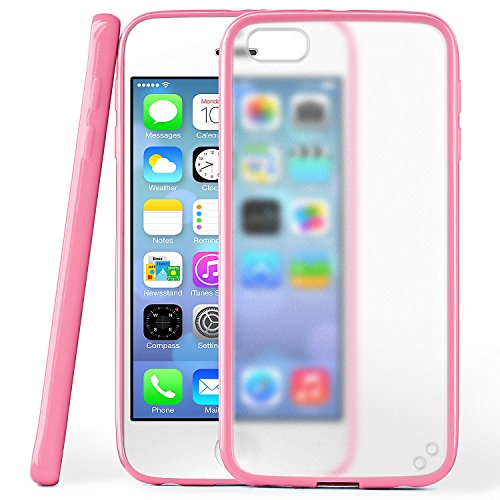 iPhone 5S Hülle Slim Transparent Mint-Grün [OneFlow Impact Back-Cover] Dünn Schutzhülle Silikon Handy-Hülle für iPhone 5/5S/SE Case TPU Tasche Matt ICY-PINK
