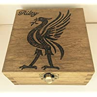 Personalised Wood Jewellery Memory Box 12cm Liver Bird Liverpool FC LFC Keepsake Dad Brother Grandad Football Gift Love Rustic Natural Wood Christmas Valentine Birthday Fathers Day Gift