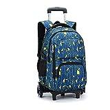 Asdomo Rolling Sac à dos pour ordinateur portable bagages avec six roulettes Unisexe, Nylon, A4, 12.6X19.3X7.1 inches