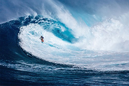 empireposter 747082 Big Wave Surfing - The Perfect Wave - Sport Poster Foto Suren Welle, Papier, Bunt, 91.5 x 61 x 0.14 cm
