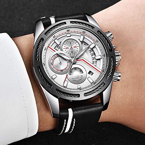 Relogio Lige Relojes para Hombre Top Brand Luxury Men S Reloj Deportivo Militar Casual Leather Reloj...