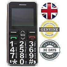 Big Digit Mobile Phone Large Digits SOS Button Unlocked Senior Citizen Friendly BLACK