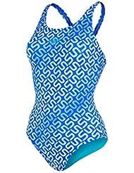 Speedo Damen Badeanzug Monogram Allover Muscleback, 8-09247A346