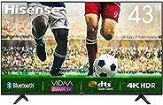 Hisense 43inch 43A7100F 4K UHD Ultra HD Smart TV VIDAA 3.0 Dolby Vision Blutooth 5.3 Wifi Shahid VIP OSN