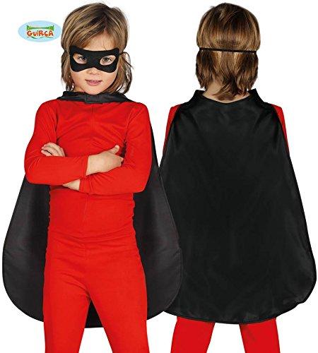 schwarzer Umhang Superheld für Kinder Halloween Horror Robe Vampirumhang (Schwarze Horror-robe)