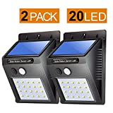 #4: Citra 20 LED Solar Motion Sensor Light,Outdoor Weatherproof for Driveway Garden Path Yard-2 Pack