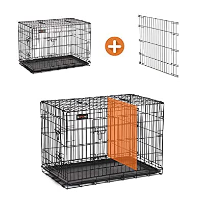 FEANDREA Dog Cage, Dog Crate with 2 Doors from FEANDREA