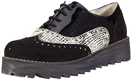 Marc Shoes Damen Katy Derby Schwarz blackcombi 00122