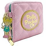 Cartera de Polly Pocket Efecto Acolchado Rosado