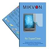 6x Mikvon SuperClear Displayschutzfolie für PocketBook Touch Lux 3 - unsichtbar - Made in Germany
