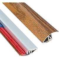 Tamaño mediano acabado de madera Transición Tira Adhesiva Ajustable Altura 900mm de longitud x 40mm de ancho