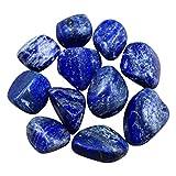 Healifty cristal de lapislázuli 10 piezas a granel de lapislázuli piedras naturales ornamentos de cristales pulidos para oficina en casa