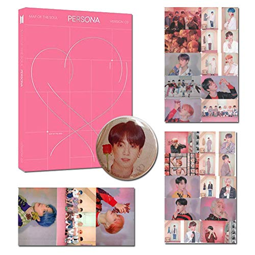 BTS Map Of The Soul-Persona VER 3 With Folded Poster 10 HD Photocards 3 HD Stickers 1 Pin Badge
