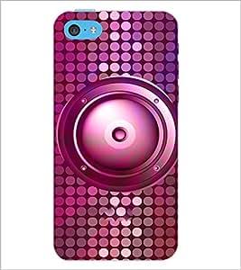 PrintDhaba Speaker D-3845 Back Case Cover for APPLE IPHONE 5C (Multi-Coloured)