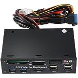 """XCSOURCE® Todo en uno Dual USB 3.0 / 2.0 eSATA SATA 5.25 """"Lector de tarjetas de medios Tablero de mandos Puertos de E / S del panel frontal AC748"""