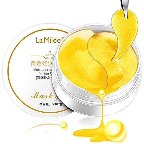 30 Pairs Under Eye Collagen Gel Pads - Gold Puder Augenmasken Face Pad Anti-Aging-Falten Premium Crystal Gold Collagen EYE-Maske Anti-Falten-Feuchtigkeitspflege Patch Pad - Anti-hefe-formel