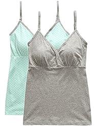 Sujetador Lactancia SWEETBB Pijamas De Las Mujeres De Maternidad Camisetas Sin Mangas Lactancia - Suave y Cómodo