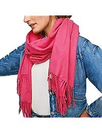 78cfae7b1e5b zycShang Foulard Femmes Hommes Automne Et Hiver Monochrome Cachemire Pompon  Double Face Longue Section ÉCharpe ÉPaissir