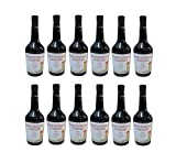 12x Tsantali Makedonikos Rotwein a 750 ml roter griechischer trockener Rotwein Rot Wein fruchtig trocken 12er Set + 2 Probier Sachets Olivenöl aus Kreta Griechenland a 10 ml