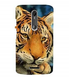 Fuson Designer Back Case Cover for Motorola Moto X3 :: Motorola Moto X (3rd Gen) (Tiger King of Jungle cub whelp sher)