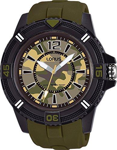 Lorus Reloj Analogico para Hombre de Cuarzo con Correa en Silicona RRX49FX9