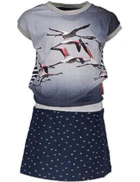 NoNo Mädchen Kleid Maroon N701-5805