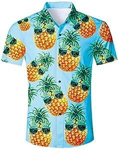 Loveternal Camisa Pineapple Hombre Camiseta