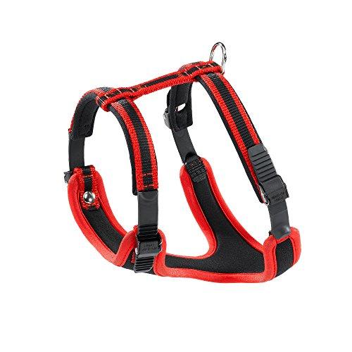 Ferplast Ergocomfort nylon imbottito Dog Harness Piccolo Rosso / Nero