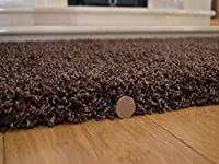 Soft Touch Shaggy Chocolate Thick Luxurious Soft 5cm Dense Pile Rug. Available in 7 Sizes from Rugs Supermarket
