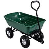 Home Discount Dump Cart Wheelbarrow Garden Tipper Truck Trolley Heavy Duty