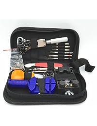 144pcs portátil Kit de herramientas de reparación de reloj juego de pines y Back Remover abridor herramienta de eliminación de herramientas de relojero