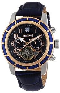 Reloj Constantin Durmont Pueblo de caballero automático con correa de piel azul - sumergible a 30 metros de Constantin Durmont