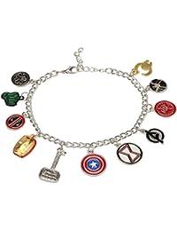 Access-o-risingg Avengers Silver Metal Multiple Charm Bracelet for Men and Women