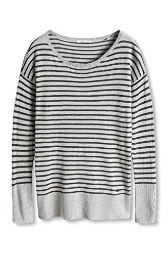 edc by ESPRIT Damen Pullover Grau (GREY 030)
