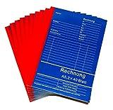10x Rechnungsblock Quittungsblock A5 je Block 2x40 Blatt
