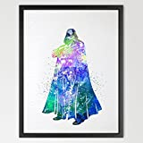 dignovel Studios Darth Vader Star Wars Illustration Aquarelle Art Print Chambre Décoration murale pour enfant Decor mural salle de mariage cadeau d'anniversaire n207-unframed