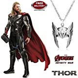 Thor Helmet / Crown - Silver Colour Trendy Imported Metal Pendant With Chain. LADY HAWK Designer Series 2018.