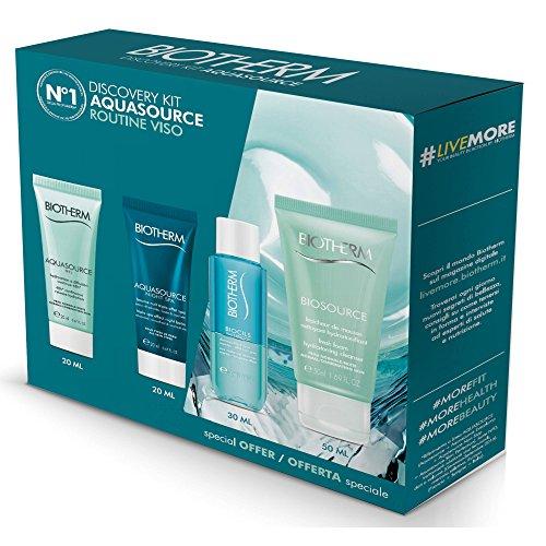 cofanetto aquasource gel pelli normali e miste 20 ml + aquasource night spa 20 ml + biosource fraicheur de mousse 50 ml + biocils waterproof 30 ml