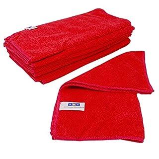 SBS Microfasertücher 10 Stück | 30 x 30 cm | waschbar | rot | für Haushalt, Auto Motorrad etc. | Putztücher | Poliertücher | Haushaltstücher