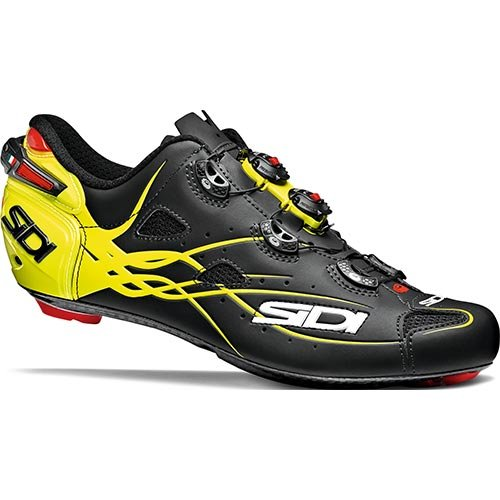 Sidi Shot, 40 EUR [US 7], Matt Black/Yellow Fluo