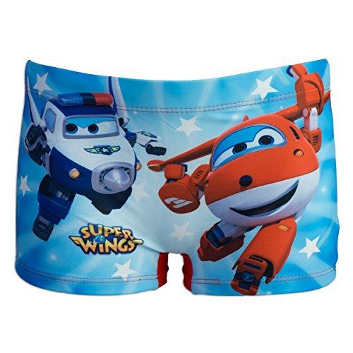 Super wings - costume costumino 1 pz boxer full print - mare piscina - bambino - novità prodotto originale 8991re [rosso - 6 anni - 116 cm]