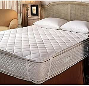 Terry Cotton King Size Double Bed Mattress Protector 100% Waterproof Dust Proof Mattress Protector Double Bed King Size Bed Cover (72 x 78 Inches)